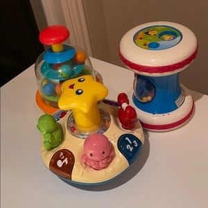 3 baby toys sound music balls buttons